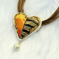 """Serce 2 z kolekcji """"Jesienna Anty-Deprecha"""" Gulbierz Studio - jewellery"""