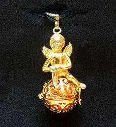 Engelsrufer Harmony Ball Klangkugel 925 silber,  24 Karat (999er) vergoldet,neu