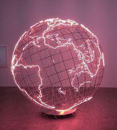 Neon | Globus | #monahatoum #art #paris #centrepompidou #centrepompidou #globus #monahatoum #paris