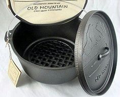 Old Mountain Cast Iron Preseasoned 8qt Dutch Oven with Feet -- New and awesome product awaits you, Read it now  : Dutch Ovens