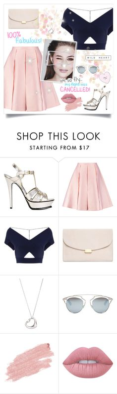 """""""NOT MY BEST #3"""" by paradiselemonade ❤ liked on Polyvore featuring Yves Saint Laurent, Emilia Wickstead, Roland Mouret, Mansur Gavriel, Tiffany & Co., Christian Dior, Jane Iredale and Lime Crime"""