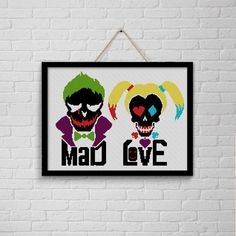 BoGo Pattern cross stitch Mad Love Joker and Harley by LolitaMade