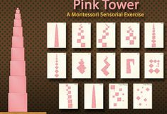App Shopper: Pink Tower - A Montessori Sensorial Exercise (Education) Mobile Montessori, Montessori Preschool, Montessori Education, Montessori Classroom, Primary Education, Maria Montessori, Montessori Practical Life, Preschool Activities, Dinosaur Activities