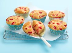 Strawberry Muffins Recipe : Ina Garten : Food Network - check the comments for substitutions for healthier muffins