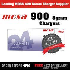 900 Nitrous Oxide, nos, noz, n2o Mosa 8g cream chargers £234.50