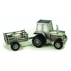 Elegance Pewterplated Tractor Bank