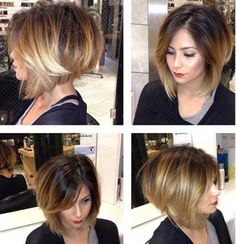 Asymmetrical Bob with Bangs Hair Style
