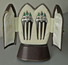 'Gothic Revival' Jewelled Combs by ARTS & CRAFTS - Tadema Gallery