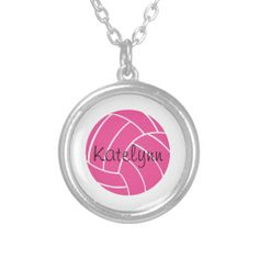Personalized Pink Volleyball Necklace So want this! Volleyball Necklace, Softball, Everything Pink, Girls Jewelry, Fashion Necklace, Handmade Jewelry, Handmade Gifts, Pendants, Pendant Necklace