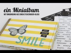 Minialbum (mit Ringbindung) aus einem Stickerblock | Juni-Mini-Kit 2016 - YouTube