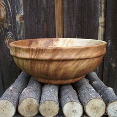 Maple Wood Bowl Reclaimed Wood Wooden Bowl by sunsetturnings, $90.00
