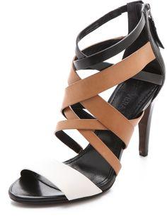 a100881b43ab Vera Wang - Brown Hinda Strappy Sandals - Lyst