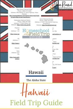 Getting ready to visit 'The Aloha State'? This Hawaii Field Trip Guide can help you plan for fun and educational experiences! #Hawaii #FieldTrip #HawaiiFieldTrips #Homeschool #Homeschooling #YearRoundHomeschooling #Printable #Geography Pre School, High School, Road To Hana, Pearl Harbor, Stay The Night, Historical Society, Pick One, Geography, Homeschooling