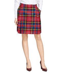 Wool Tartan Plaid Skirt