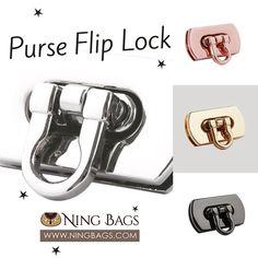 Matte silver Purse Lock closure hardware Twist Lock Handbag Purse Bag Making Supplies Hardware