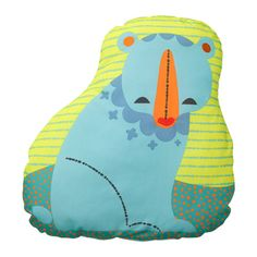 LATTJO Cushion, bear, blue green bear/blue green 19x19