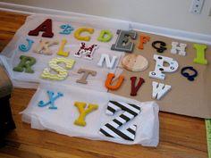 nursery alphabet. DIY.