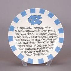 A Carolina Fan Definition Platter
