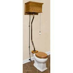 High Tank Pull Chain Toilet Reproduction Victorian High Wooden Tank With Pull Chain Toilet From