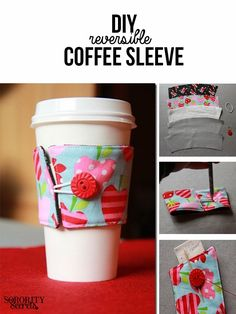 The Sorority Secrets: DIY Coffee Sleeves (…and They're Reversible!)
