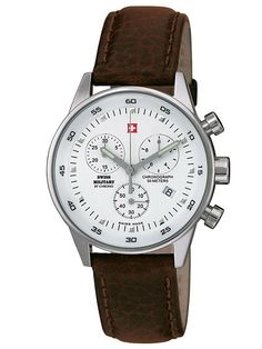 Discover a large selection of Swiss Military watches on - the worldwide marketplace for luxury watches. Compare all Swiss Military models ✓ Buy safely & securely Shops, Dream Watches, Unisex, Chronograph, Military, Leather, Stuff To Buy, Accessories