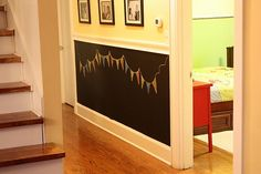 Chalk board walls for the kids