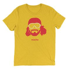 Looking for a gift idea for that macho man in your life? He'll love this badass T shirt. #wrestling #funny #funnyshit