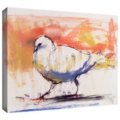 'Walking Dove' by Mark Adlington Painting Print Gallery-Wrapped on Canva