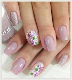 Beauty Nails, Hair Beauty, Cute Spring Nails, Flower Nails, Mani Pedi, Toe Nails, Nail Designs, Nail Polish, Floral