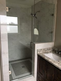 Beautiful bathroom remodel     #bathroom #tile #granite #master  #gannoncustomhomes #localbusiness #texas #remodel #custombuilder #interior #design #professional #contractor #construction #residential #business #family