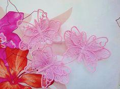 Aufnäher - 3er Set 3D Aufnäher Schmetterlinge - ein Designerstück von kiowa bei DaWanda