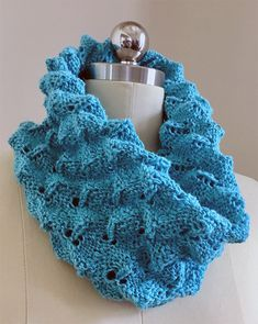 Free Knitting Pattern for Easy Roly Poly Cowl - Three-dimensional stitch knit with a 10 stitch 16 round repeat pattern, but there are only 4 different rounds. Designed by Wei Wilkins. Sport weight yarn. Rated easy by the designer.