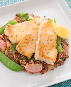Sounds delicious!! --> Before cooking tender cod fillets, we're coating them in a specialty ingredient: almond flour.