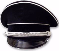 Military WWII German Cap WW2 Elite Officer Hat SS2 German Visor Cap all Size b385f19a5231