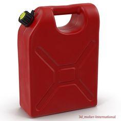 3d model of Gas Can http://www.turbosquid.com/3d-models/c4d-gas/942922?referral=3d_molier-International