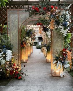 We design and style your biggest day as your happiness is a key -------------------------------------------------- Weddingday of Thailand. Wedding Backdrop Design, Wedding Hall Decorations, Prom Decor, Wedding Entrance, Engagement Decorations, Entrance Decor, Flower Decorations, Decor Wedding, Wedding Themes