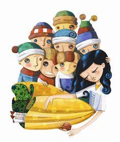 Snow White and the Seven Dwarfs art