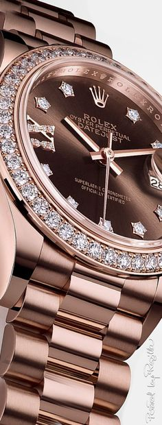 In some cases part of that image is the quantity of money you invested to use a watch with a name like Rolex on it; it is no secret how much watches like that can cost. Stylish Watches, Luxury Watches For Men, Cool Watches, Wrist Watches, Diamond Watches, Rolex Watches For Men, Women's Watches, Patek Philippe, Beautiful Watches