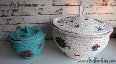 Cómo hacer cestas con cuerda y decoupage