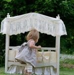 Eden's Bouquet - Heirloom Canopy Doll Crib & Linens