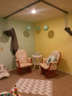Church nursery nursing corner