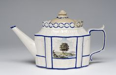 Made in Castleford, Yorkshire, England   c. 1800   Stoneware with enamel decoration