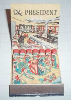 FEATURE MATCHBOOK THE PRESIDENT HOTEL ATLANTIC CITY N.J. by ussiwojima, via Flickr
