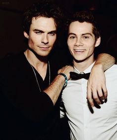 TOO MUCH. Dylan O'brien and Ian Somerhalder oh my stars tooo tooo much im gna f**kkinn EXPLODE