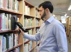 Nordic ID Merlin HF RFID Blade is ideal for libraries and archives Library Design, Merlin, Libraries, Blade, Mens Tops, Bookcases, Bookshelves, Llamas