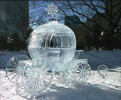 Cinderella's carriage, carved from ice:):)