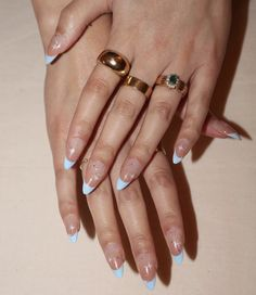 Image in collection by littlefridd Gem Nails, Aycrlic Nails, Oval Nails, Dope Nails, Hair And Nails, Almond Acrylic Nails, Cute Acrylic Nails, Nail Pro, Gel Nail Polish