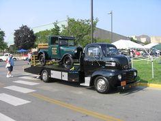 48-56 Ford COE ramp deck transporter