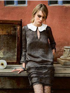 Schnittmuster: Langarm-Kleid - Bubikragen - Damen - burda style
