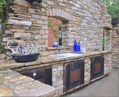 outdoor entertainment area.